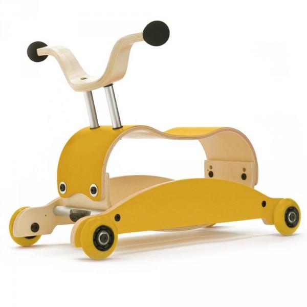 Wishbone Rutschfahrzeug Mini Flip gelb
