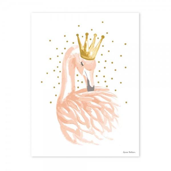 Lilipinso Poster Flamingo mit Krone