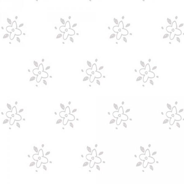Caselio Ohlala Blümchentapete grau silber