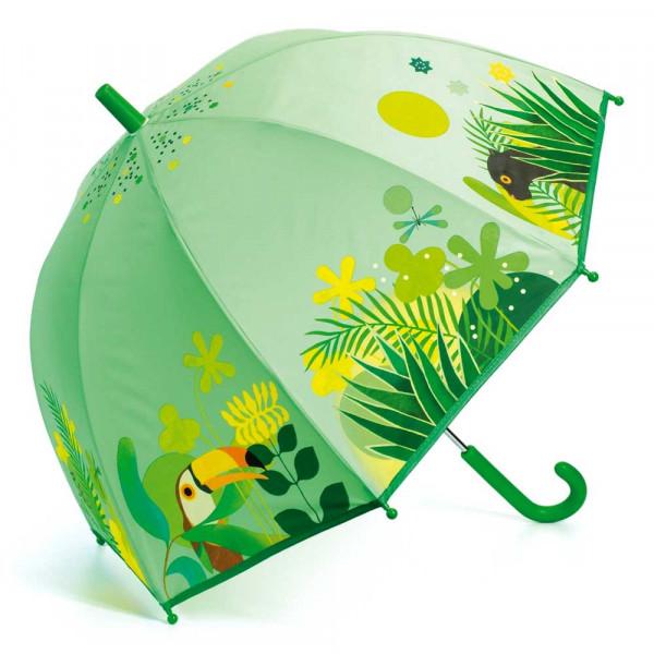 Djeco Kinder Regenschirm Dschungel grün