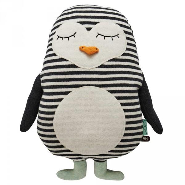 OYOY Deko Strickkissen / Kuscheltier Pinguin Pingo
