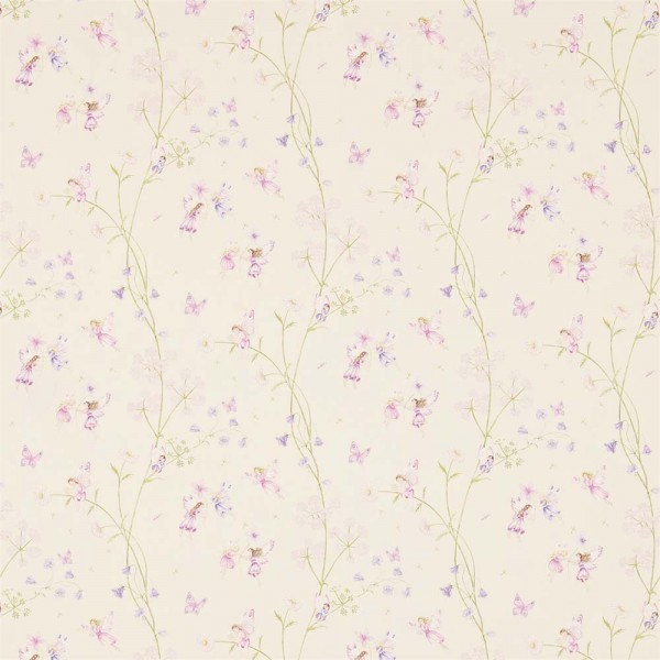 Little Sanderson Abracazoo Motivstoff Feen Garten creme lila pink
