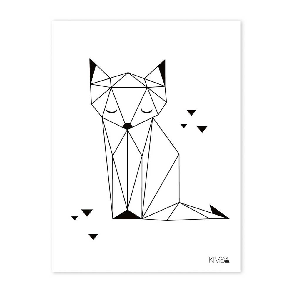 Lilipinso Poster Origami Fuchs bei kinder räume