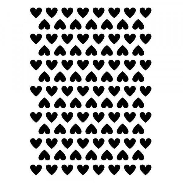Lilipinso Wandsticker A3 Herzchen schwarz