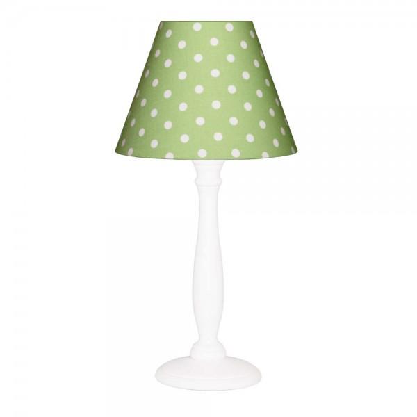 Nordika Lampenschirm grün Punkte weiß c2