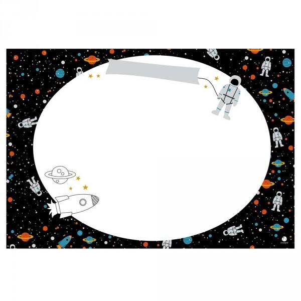 Ava & Yves Tischset / Schreibunterlage Weltraum