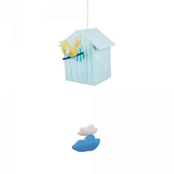 L`Oiseau Bateau Nachtlicht Vogelhäuschen hellblau