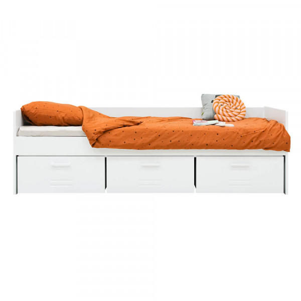 Bopita Locker Sofabett 90 x 200 weiss ohne Lattenrost
