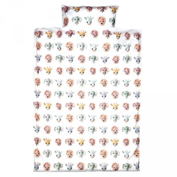 Studio Ditte Kinderbettwäsche Tiere süß 100 x 135 cm