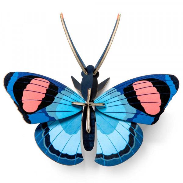 studio ROOF 3D Schmetterling blau Pappe