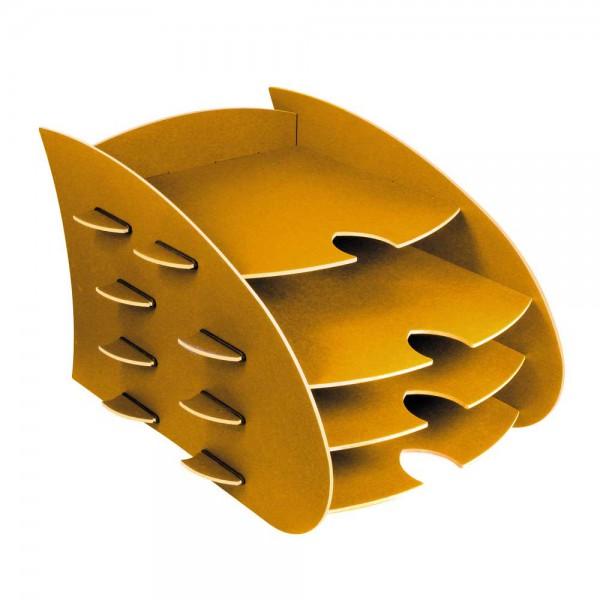 Werkhaus Schreibtisch DIN A4 Ablage Box Aero gelb