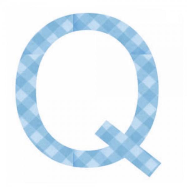 Lilipinso Sticker blau Buchstabe q