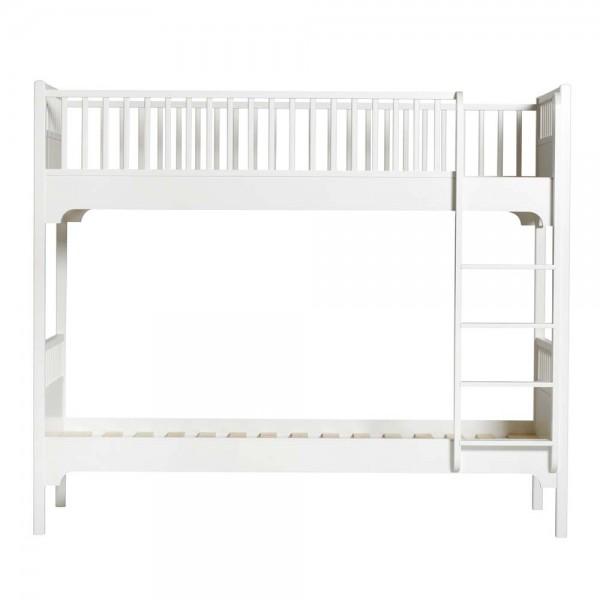 Oliver Furniture Etagenbett 90 x 200 weiß gerade Leiter