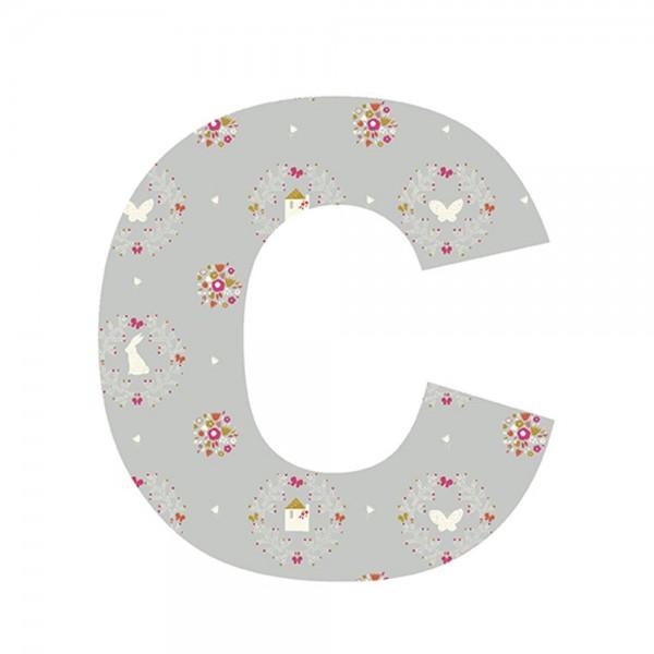 Lilipinso Sticker Buchstabe geblümt C