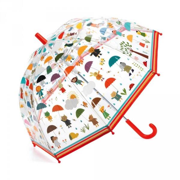 Djeco Kinder Regenschirm Tiere mit Schirm