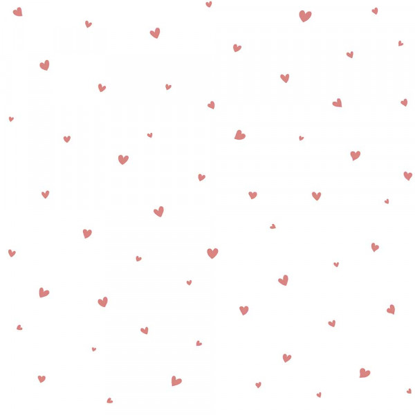 Lilipinso Vlies Tapete Herzchengestöber pink rosa