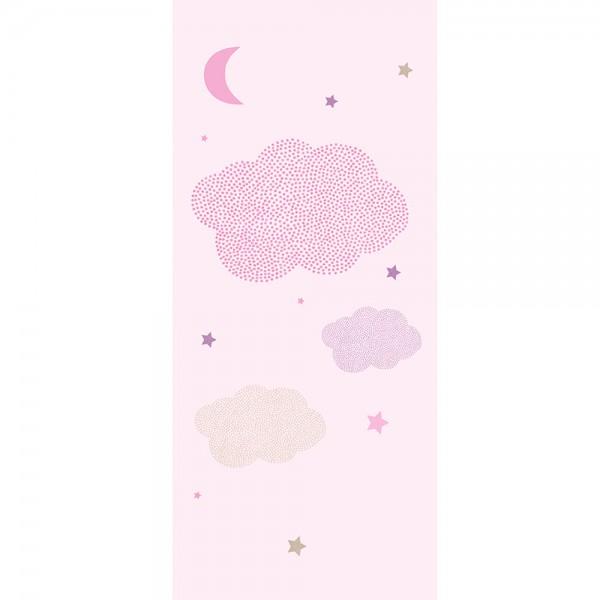 Casadeco Arc En Ciel Wandbild Sternenhimmel rosa