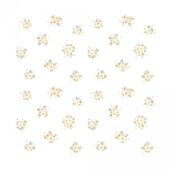 Lilipinso Vlies Tapete Blumen grün rosa gelb
