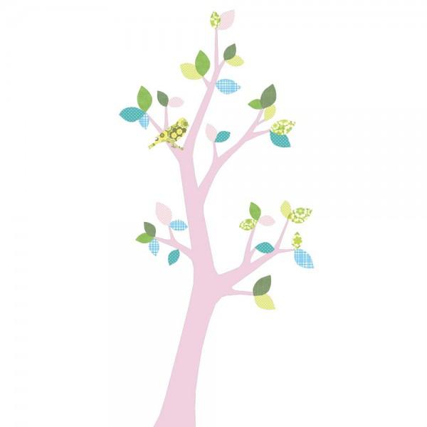 Inke Tapetenbaum 3 Stamm rosa Blätter blau rosa grün