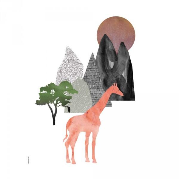 I Love My Type Poster Giraffe & Berge