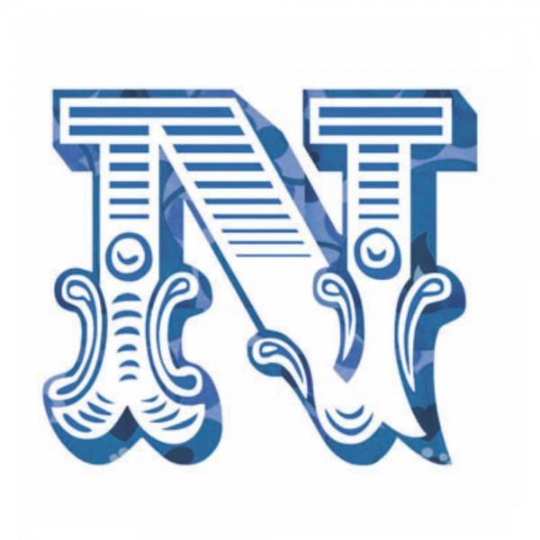 Lilipinso Sticker blau Buchstabe n