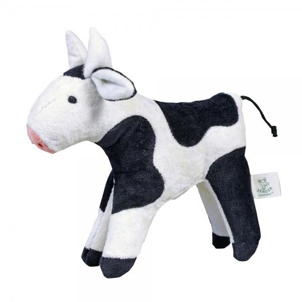 Senger Kuscheltier Tierkind Kuh schwarz bunt