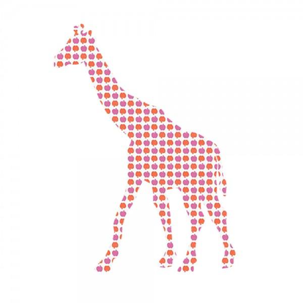 Inke Tapetentier Giraffe Apfelmuster lila orange
