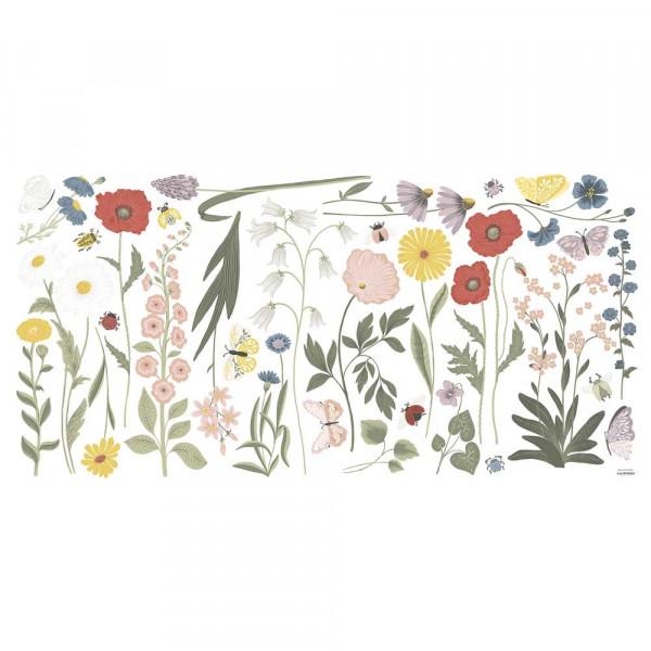 Lilipinso Wandsticker XL Richtig große Wildblumenblüten blumenbunt