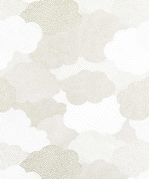 Casadeco Arc En Ciel Tapete Wolken getupft silber