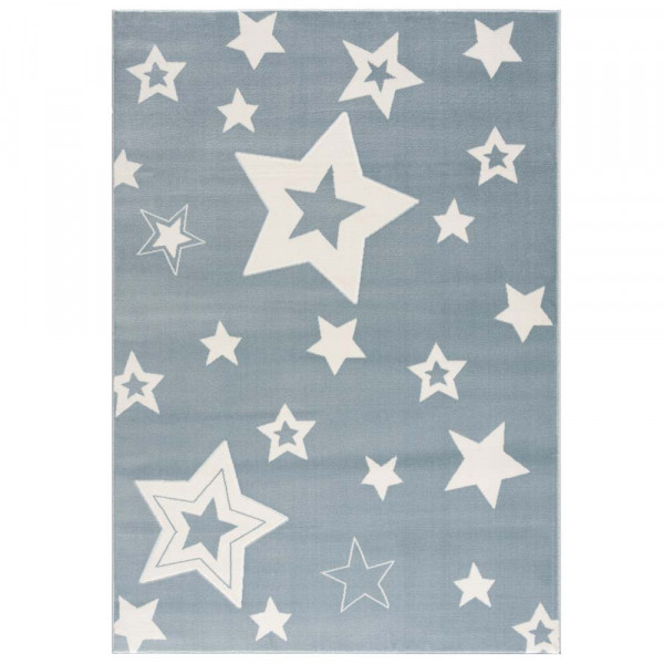 Livone Kinderteppich Galaxy Sterne blau