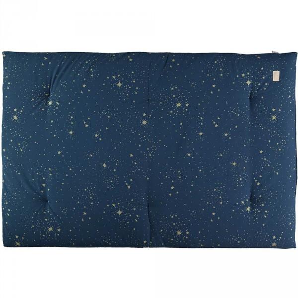 Nobodinoz Spielmatte / Futon Eden goldene Sterne blau