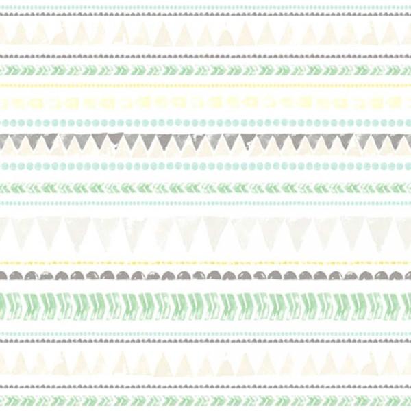 Eijffinger Tout Petit Tapeten Wandbild Wimpelketten grün grau