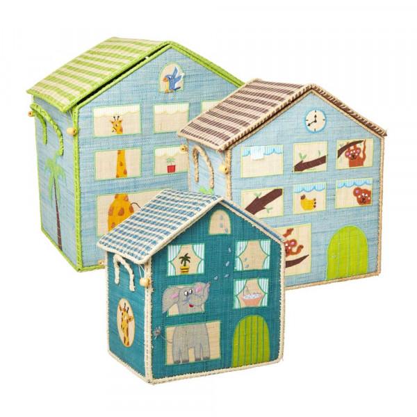 Rice Spielzeugkorb-Set Dschungel Junge