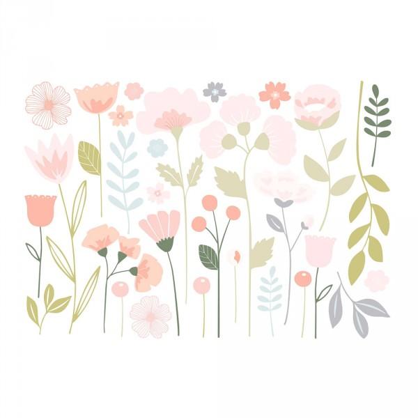 Lilipinso Wandsticker XL Blütensortiment rosa pastell