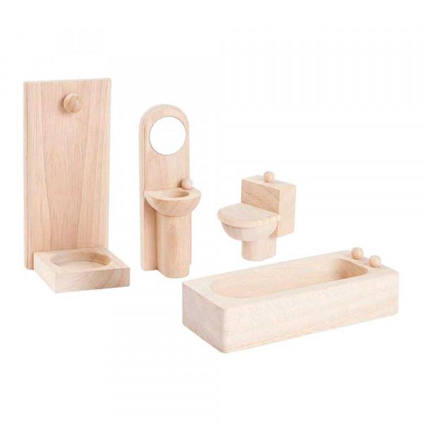 Plan Toys Badezimmer klassisch Zubehör für Puppenhaus