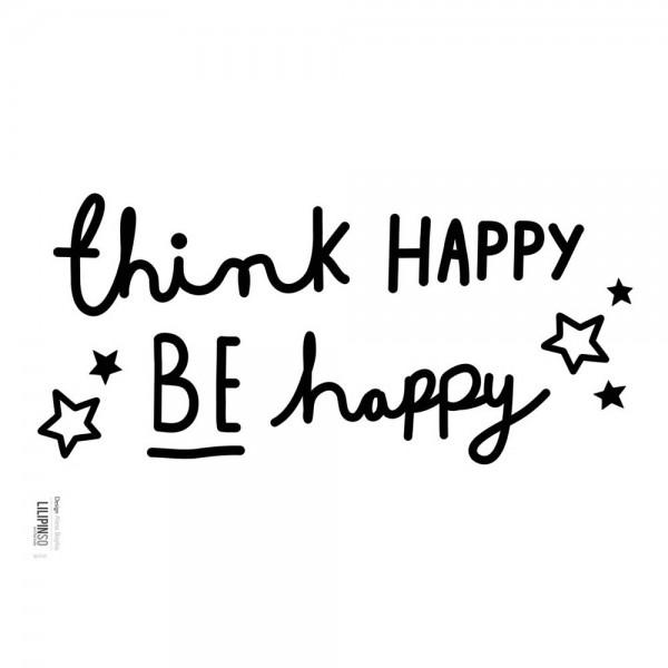 Lilipinso Wandsticker Think Happy