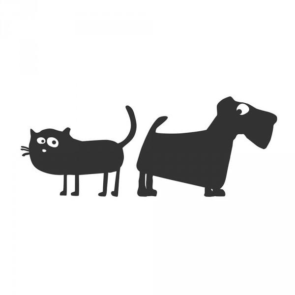cats on appletrees Wandsticker Katze Friedegunde & Alfons