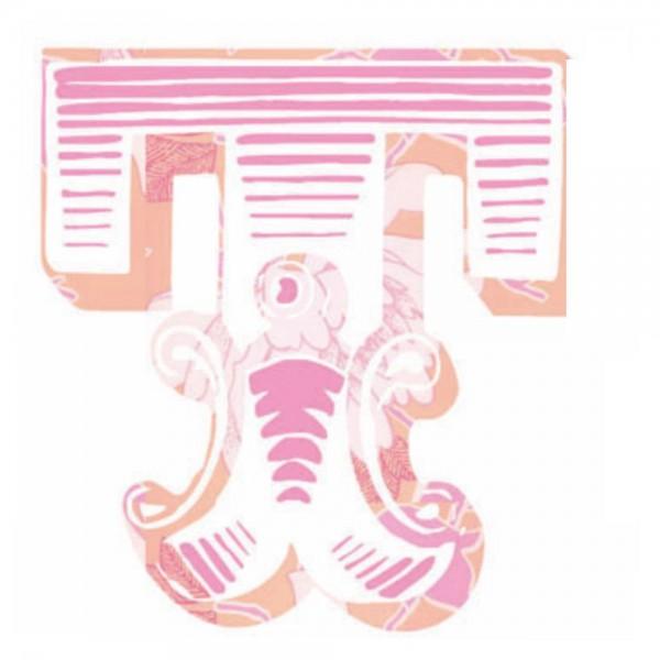 Lilipinso Sticker rosa Buchstabe t