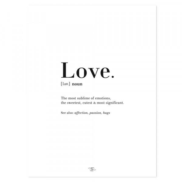 Lilipinso Poster LOVE. schwarz weiß
