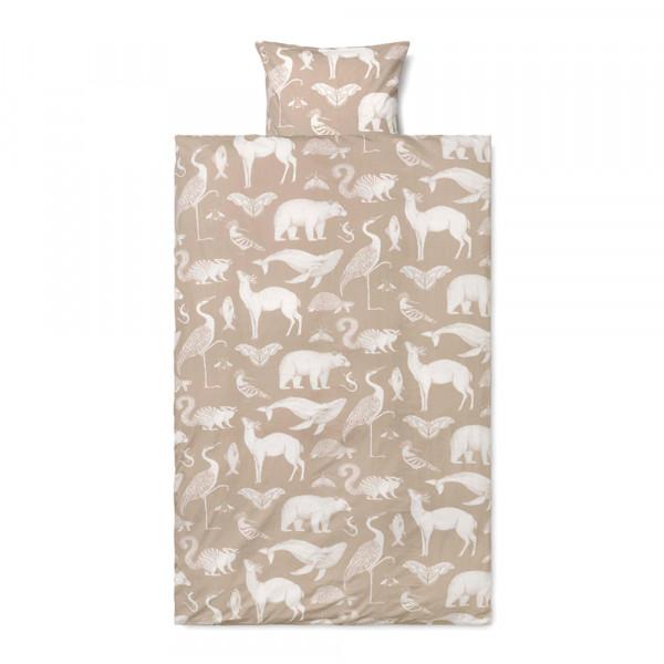 Ferm Living Bettwäsche Katie Scott Tiere beige 140 x 200