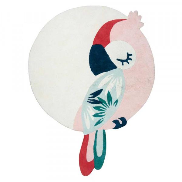 Lilipinso Teppich Schlafender Papagei rosa