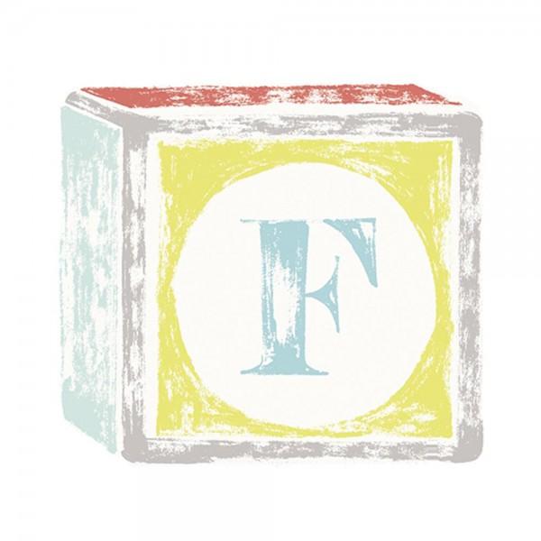 Lilipinso Sticker Buchstabe auf Spielwürfel F