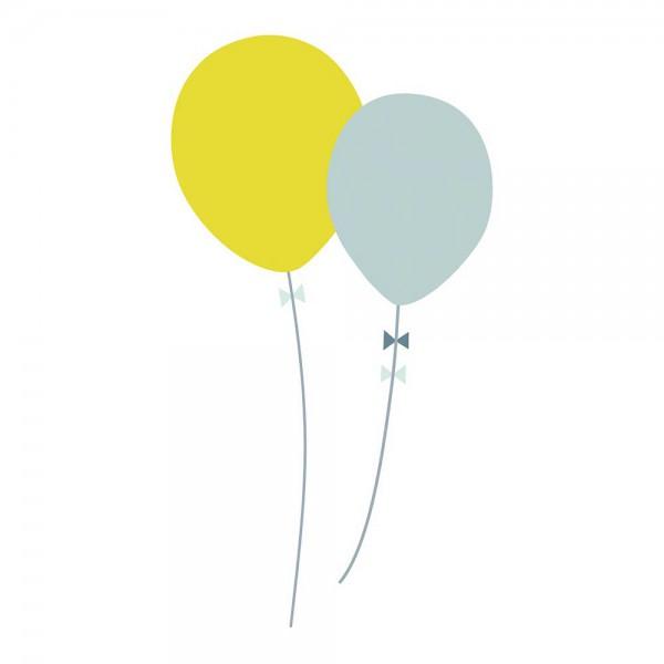 Lilipinso Wandsticker XL Luftballons grün bleu