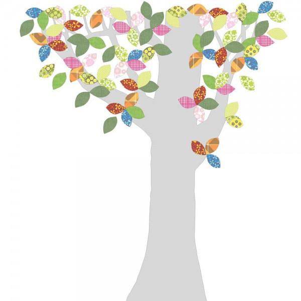 Inke Tapetenbaum Silberstamm bunt