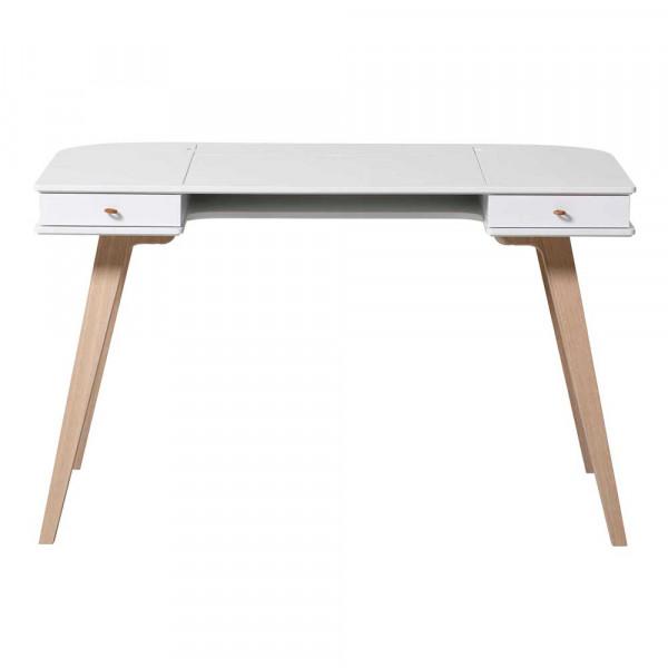 Oliver Furniture Wood Schreibtisch 72,6 cm Holz weiss/Eiche