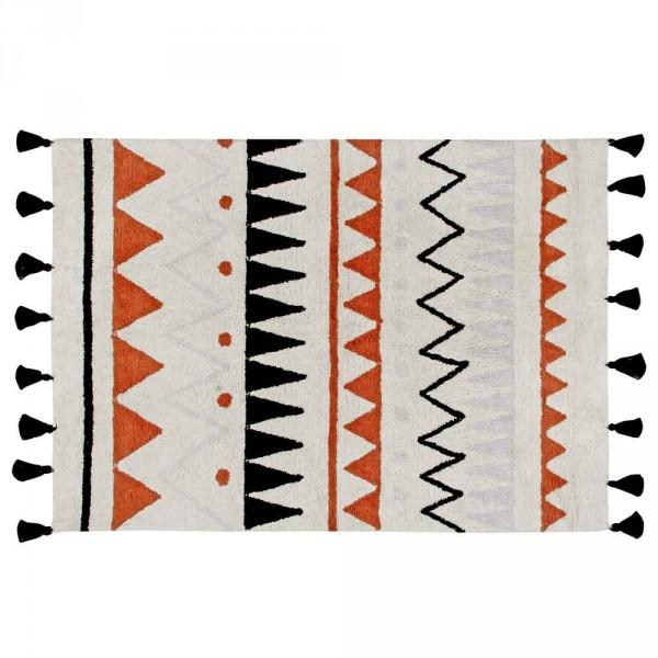 Lorena Canals Teppich Azteken Muster natur terracota