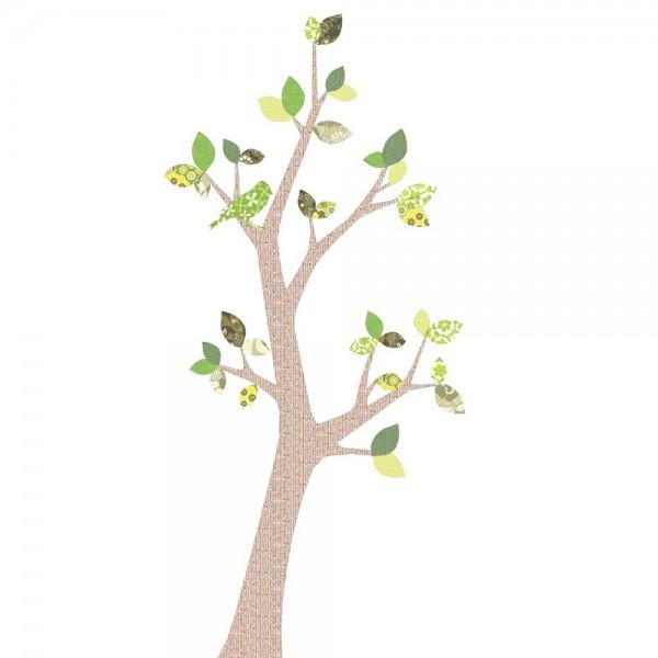 Inke Tapetenbaum 2 Stamm braun Blätter grün
