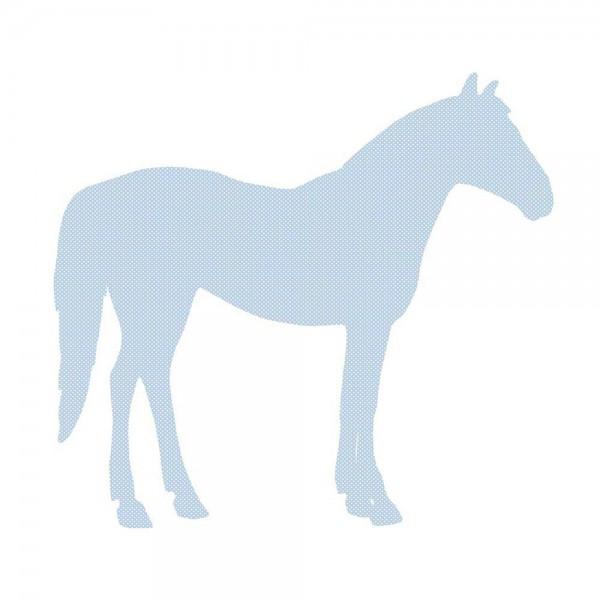 Inke Tapetentier Pferd hellblau Punkte weiss