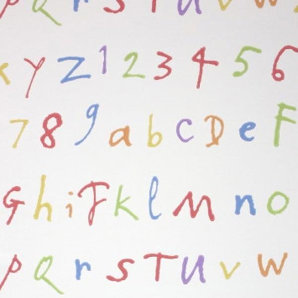 Osborne & Little Tapete Buchstaben creme