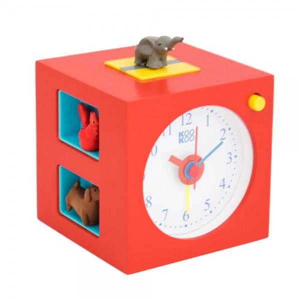 Kookoo Kinderwecker Kids Alarm Tiere rot